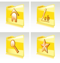 Set of folders vector