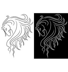 Horse head vector