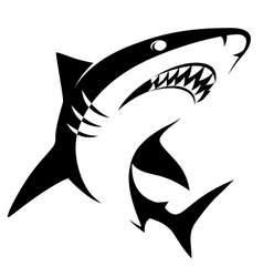 Shark sign vector