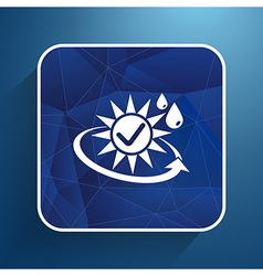 Sun protection block icon sunblock skin isolated vector