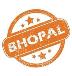 Bhopal rubber stamp vector