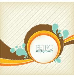 Retro template vector