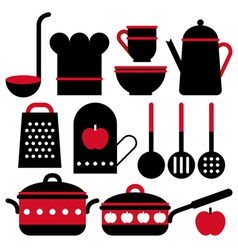 Kitchen utensil set vector