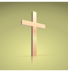 Golden cross symbol of the christian vector