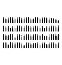 Ammunition silhouettes set vector