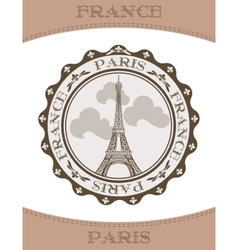 Icon eiffel tower vector