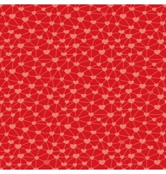 Seamless pattern with hearts linked together vector