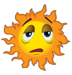 A tired sun vector