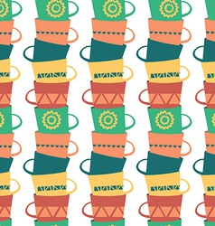 Seamless pattern with piles of stacked colorful vector