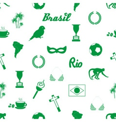Brazil icons and symbols seamless pattern eps10 vector