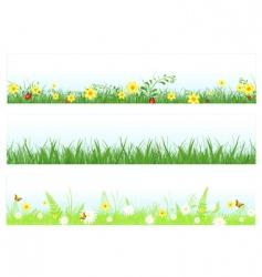 Grass web banners vector
