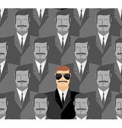 Spy seamless pattern of people a crowd of men vector