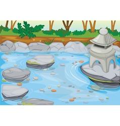 Temple in water vector
