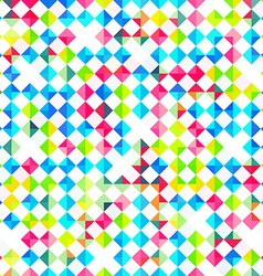 Bright rhombus seamless pattern vector