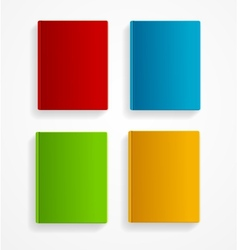 Books colorful blank set flat design vector