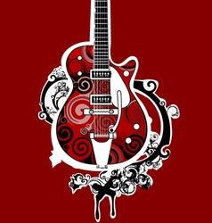 Funky guitar vector
