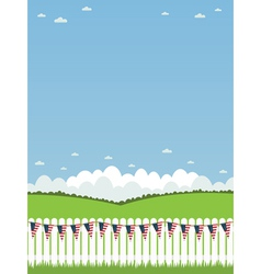 Usa picket fence vector