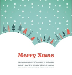 Christmas background with homes and birds vector
