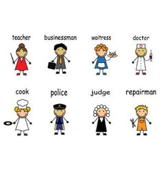 Cartoon people of various professions vector