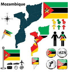 Mozambique map vector
