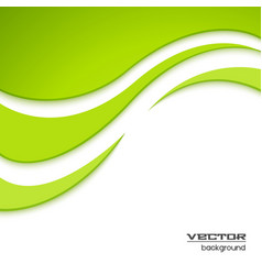 Abstract green waved background vector