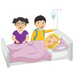 Kids in hospital vector