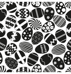Various black easter eggs design seamless pattern vector