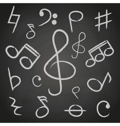 Music note icons on black board eps10 vector
