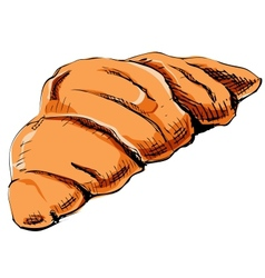 Fresh croissant icon vector