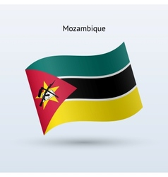 Mozambique flag waving form vector