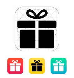 Big gift box icons on white background vector