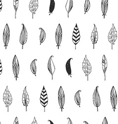 Feather background retro pattern etnic doodle vector