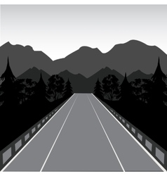 Road in mountain vector