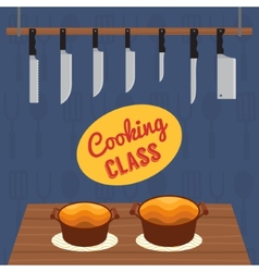 Culinary cooking class vector