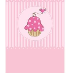 Piece of cake cupcake vector