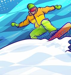 Snowboard jump vector
