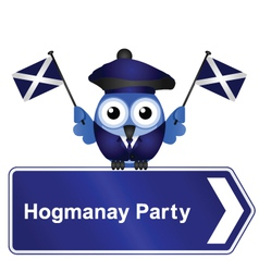 Hogmanay party sign vector