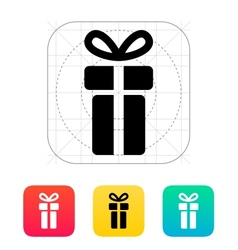 Small gift box icons on white background vector