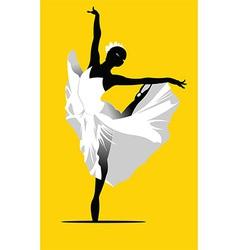 Ballerina dancing vector