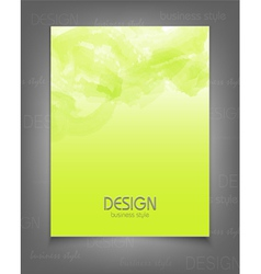 Template for a business with a green strokes vector