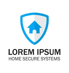 Blue shield home security vector