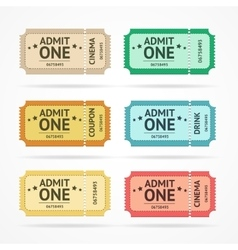 Color tickets set vector