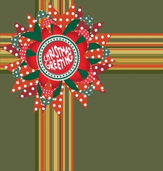Christmas greeting decor vector