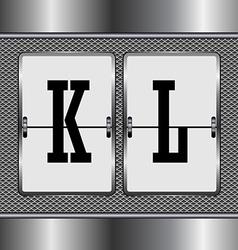 Alphabet of mechanical vector