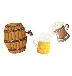 Oktoberfest drinks vector