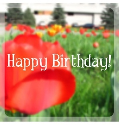 Birthday card with blurry effect vector