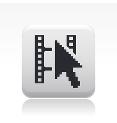Video web playericon vector