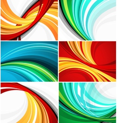 Colorful swirl pattern designs vector