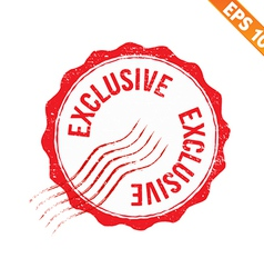 Grunge exclusive rubber stamp - - eps10 vector