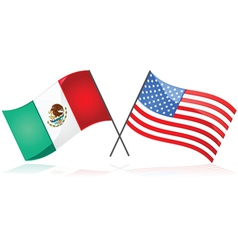 Mexico and the united states vector